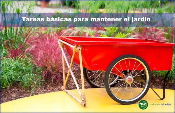 tareas básicas para mantener el jardín