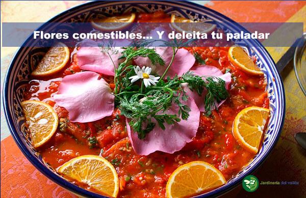 deleitate con flores comestibles