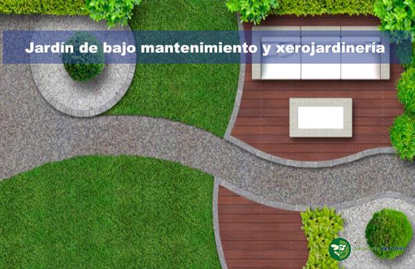 Jardín de bajo mantenimiento y xerojardinería con fixgrav