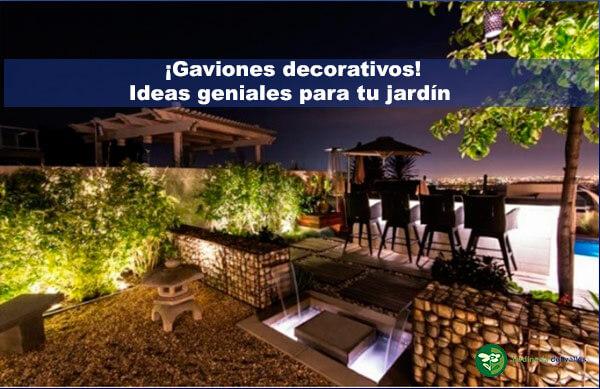 Gaviones decorativos ideas geniales para tu jardín