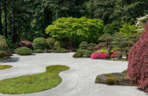 jardines de bajo mantenimiento zen