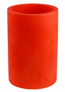 Maceta vondom cilindro alto rojo