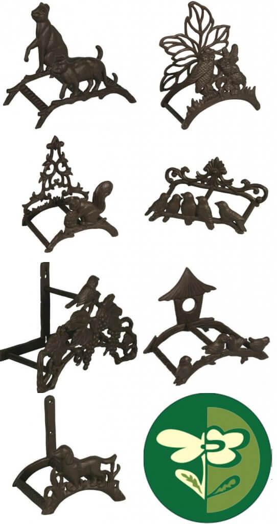 Portamangueras decorativos en forja