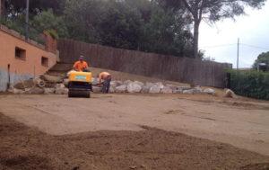 Nivelación y aportación de tierra